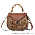 Women Wicker Bag Rattan Weave Handbag Can Also Be Shoulder Bag Tote Boho Styles