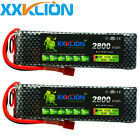 2pcs 7.4V 2S 2800mAh 30C LiPO Battery T plug for car Airplane Helicopter Drone