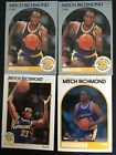 lot of 4 mitch richmond basktball cards 89,90,91 hoops rookie card mint and nm