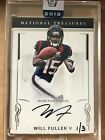 2018 Panini Honors WILL FULLER V 2016 National Treaures Buyback Auto Encased 1/3