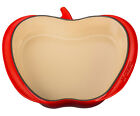 $180 NEW  Le Creuset ENAMELLED CAST IRON APPLE DISH Cerise Cherry Red 2 qt