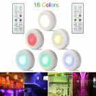 6 Packs Wireless LED Puck Lights Closet Lights Under Cabinet Lighting w/ Remote