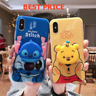 NEW Stitch Winnie Pooh Case Socket With Pop Up Holder Phone for iPhone, Samsung