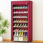 8 Tier Shoe Rack Home Storage Organizer Cabinet Shelf Space Save Shoe Tower Rack