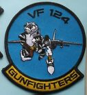 US NAVY PATCH FIGHTER SQUADRON VF 124 GUNFIGHTERS -F-14 TOMCAT INACTIVE 1994