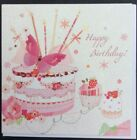 "Girls birthday cards from SECRET GARDEN by TRACKS 6""x6"""" (F3) RRP £2.49"
