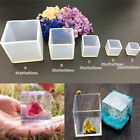 Cube Square Silicones Molds Resin Gifts Making Mould Epoxy Pendant Craft Tools