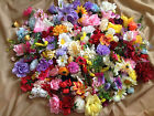 ARTIFICIAL FLOWER HEADS JOB LOT faux fake silk flowers craft wedding card making