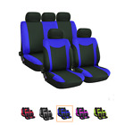 9pcs Universal Car Seat Protector Cover Blue Cloth Decoration For Four Seasons