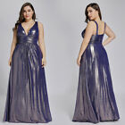 Ever-pretty US Elegant Plus Size Prom Gown V-Neck Backless Evening Dresses 7204