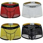 US Mens See through Mesh Breathe Boxer Briefs Shorts Underwear Underpants Trunks