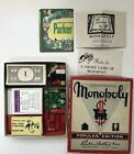 vtg 1951 Monopoly Game Parker Bros. Wood And Bakelite Pieces INCOMLETE parts
