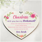PERSONALISED Will You Be My Maid of Honour Bridesmaid Flower Girl Plaque Gifts