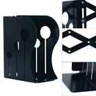 Heavy Duty Metal Iron Adjustable Books Holder Stand Desk Nonskid Bookend Small