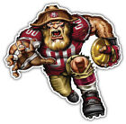 San Francisco 49ers NFL Mascot Car Bumper Sticker Decal - 3'' or 5'' $4.0 USD on eBay