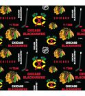 Chicago Blackhawks Fabric by the Yard, by the Half Yard, NHL Cotton Fabric, Hock $5.25 USD on eBay