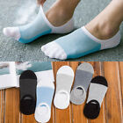 5 Pairs Men Invisible Nonslip Ankle Loafer No Show Low Cut Cotton Boat Socks US