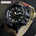 SKMEI Mens Military Watch Digital Analog Wristwatch Calendar Outdoor Sports 5ATM image