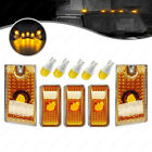 For 2003-2009 Hummer H2 5pcs Amber Roof Clearance Top Marker Lights Yellow Bulbs