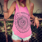 Plus Size Womens Summer Sleeveless Tops Tunic T Shirts Casual Loose Tank Vest US