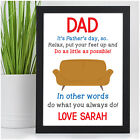 Personalised Funny Fathers Day Gifts for Dad Daddy Grandad Him Novelty Print