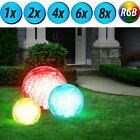 RGB LED outdoor plug stand lamps garden SOLAR lights glass balls color change