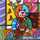 """Romero Britto Art Oil Painting Print On Canvas Home Decor""""Bear Mother And Baby"""""""