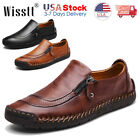 Kyпить Men's Leather Casual Shoes Summer Breathable Antiskid Loafers Slip on Moccasins на еВаy.соm