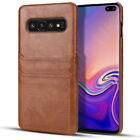 For Samsung Galaxy S10+Plus PU Leather Case Slim Lite Protective Snap On Cover