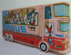VTG 80's SCHOOL BUS MULTI FUNCTION MECHANICAL BUTTONS PENCIL BOX CASE SOME FLAWS