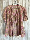 ANOKHI KOKI Girls Size 6-7 Yrs Multi Color Wrap Top Dress