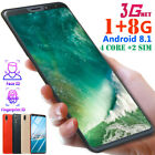 "6.1"" Android 8.1 Mobile Phone Hd 1g+8gb 4 Core 2 Sim Face Id Unlocked Smartphone"