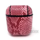 Snake Skin Leather PU Protective C/over For AirPods 1/2 & PRO Charging C/ase