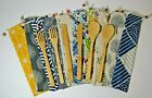Reusable Bamboo Cutlery Set Spoon Fork Knife w/Bag - 20 Designs - Eco Friendly