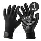 1 Pair Horse Pet Dog Grooming Gloves Brush Hair Remover Shedding Massage Cleaner