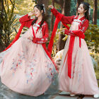 Chinese Ancient Han Element Costume Cosplay Fairy Women Red Ruqun Dress Hanfu