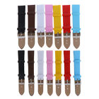 1PCS 16mm 20mm Candy color smooth grain pu leather watchband watch strap