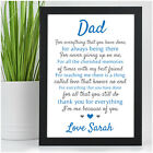 PERSONALISED Birthday Poem Gifts for DADDY DAD GRANDAD - Gifts for HIM MEN