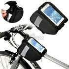 Bike Bicycle Front Tube Touch Screen Frame Bag Case CELL Phone Holder Waterproof