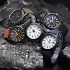 Men Watches Date Stainless Steel Military Sports Analog Quartz Army Wrist Watch image