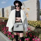 Women Luxury Mink Fur Big Fur Lapel Outwear Winter Thicken Solid Warm Coat Chic