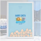 Personalised Christening Baptism Guest Book Alternative for Boys Jungle Animals