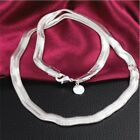 925 Silver Sterling Solid 6mm Snake Necklace Chain 16-30 Inch Fashion Men Women