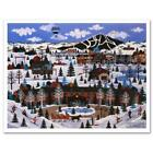"""Wooster Scott """"Sun Valley Winter Wonderland"""" Signed Limited Edition Lithograph"""
