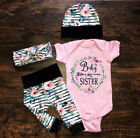 Kyпить US Newborn Infant Baby Girl Floral Outfit Clothes Romper Tops+Pants+Headband Set на еВаy.соm