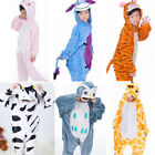 Kids boys girls Unisex Kigurumi Animal Pajamas Cosplay PartyCostume Sleepwear UK