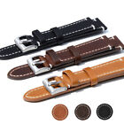 Genuine Leather Wrist watch Band Watch Strap Replacement 18/19/20/22mm Vintage
