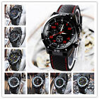 US Mens Fashion Military Sports Silicone Stainless Steel Quartz Wristwatch GEMS image