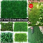 1/2x Artificial Plant Wall Panels Fake Vertical Garden Green Foliage Ivy Fence