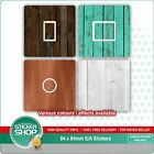 2 X Wood Effect Uk Light Switch Stickers / Living Room / Bedroom / Nursery Decor